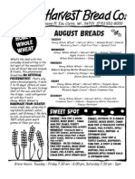 August 2013 Bread and Sweets Menu