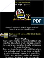 3rdQ2013 Lesson 5 Obedience the Fruit of Revival PPShow