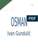 gundulić - osman