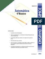 Ensayo1 Simce Matematica 4basico-2013
