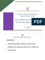 PMI5014 2010 Aula 02 SLIDES Gestao Recursos e Reservas