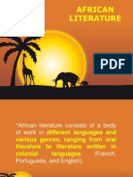 The Literature of Africa Introduction