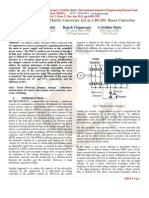 Three Phase Indirect Matrix Converter Act as a DCDC Boost Converter