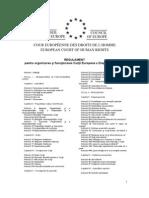 Regulament Pentru Organizarea Si Functionarea Curtii Europene a Drepturilor Omului