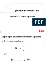 Thermophysical Properties Useful Equations