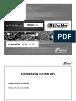 Lista Oleo Mac Marzo 2011