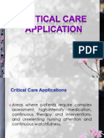 Critical Care Application