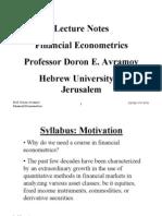 Avramov Doron Financial Econometrics