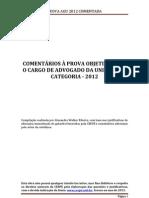 PROVA AGU 2012 COMENTADA - Cópia