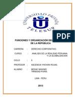 ORGANIZACIÓN Y FUNCION DEL CONGRESO DE LA REPÚBLICA