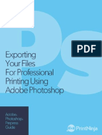 Adobe Photoshop Prepress and File Export as PDF Guide