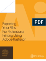 Adobe Illustrator Prepress and File Export as PDF Guide