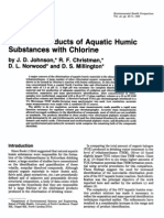 Reaction Products of Aquatic Humic Substances with Chlorine