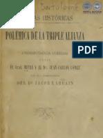 PAGINAS HISTORICAS - POLEMICA DE LA TRIPLE ALIANZA - 1807 - PORTALGUARANI
