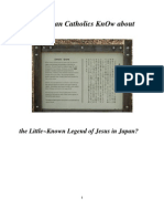 Do Roman Catholics KnOw about the Legend of Jesus in Japan?