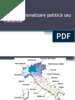 Italia – regionalizare politică sau culturală 2012