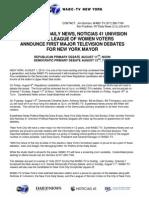 NYDN-WABC 2013 Mayoral Primary Debate