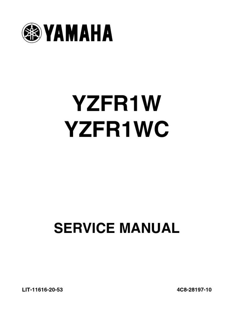 yamaha r1 service manual 2007 throttle fuel injection rh scribd com yamaha r1 service manual pdf r1 service manual 2008