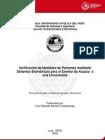 Balmelli Chuquisengo Luis Sistemas Biometricos Universidad