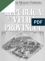 La república en las viejas provincias