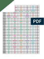 Fall 2013 Schedule
