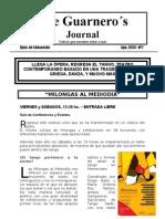 The Guarnero´s Journal 7. Agosto 13