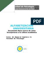 Alfabetizacion universitaria Cómo incorporarse a la cultura academica cap1