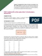 Certificacion en Fibra