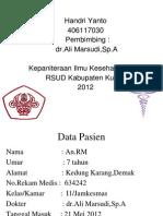 Laporan Kasus Demam Typoid_maju Kasus 2,Dr.ali
