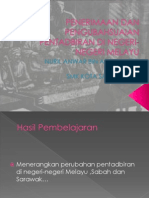 Bab 7.1 Perubahan Pentadbiran Di Tanah Melayu