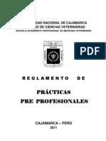 Reglamento Practicas Pre Profesionales Veterinaria