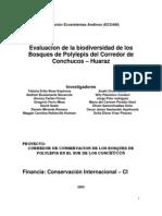 Evaluacion de La Biodiversidad en El Bosque de Polylepis Conchucos