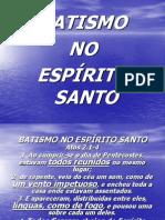 I  O Batismo no Espírito Santo