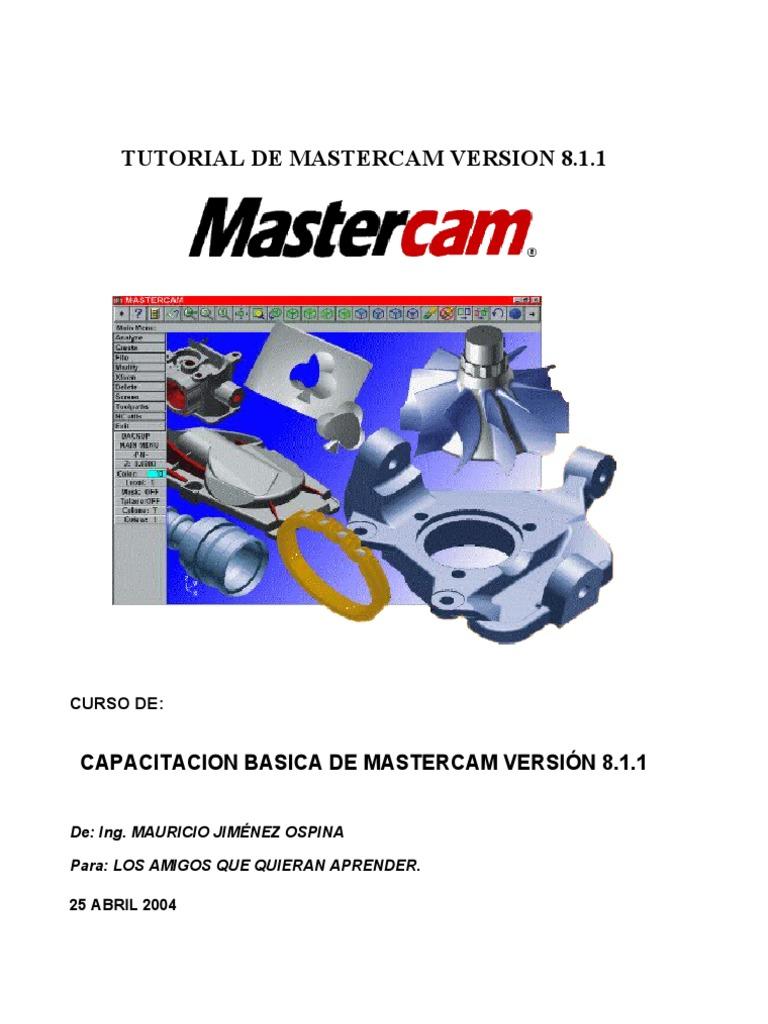 introduccion a mastercam rh scribd com manual de mastercam 2018 manual de mastercam 2017 en español pdf