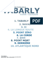 Yann Tiersen -Tabarly(Complete Book for Piano) by Idwer Doosje and Romain Mcflan1586