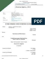 Sue CRA-Malicious Prosecution-2013 BCSC 482