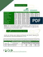 Tarifas_evaluadores