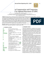 Voltage Drop Compensation and Congestion Management by Optimal Placement of UPFC