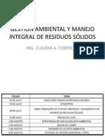 GESTIÓN AMBIENTAL Y MANEJO INTEGRAL DE RESIDUOS SÓLIDOS