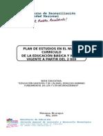 Propuesta de Plan de Estudio de Educación Secundaria (Última Versión)