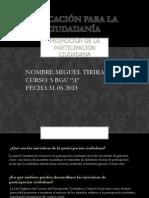 Miguel Tirira Participacion Ciudadana