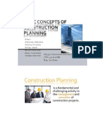 Basic Concepts in the Development of Construction Plans