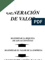 Slides GENERACIÓN DE VALOR
