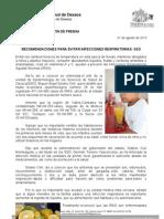01/08/13 Germán Tenorio Vasconcelos recomiendaciones Para Evitar Infecciones Respiratorias