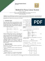 Uzawa-SOR Method for Fuzzy Linear System