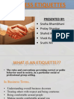 Business Etiquette Final Ppt