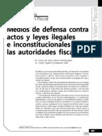 Medios de Defensa Contra Actos y Leyes Ilegales e Inconstitucionales de Las Autoridades Fiscales