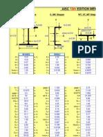 AISC 13.0 Properties Viewer
