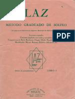 LAZ Método Graduado de solfeo TOMO I. Lambert Alfonso Zamacois