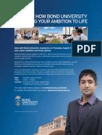 bond university information session colombo - 15 8 2013